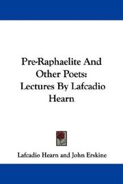 Cover of: Pre-Raphaelite and other poets: lectures