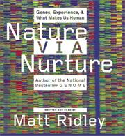 Cover of: Nature Via Nurture CD: Genes, Experience, and What Makes Us Human