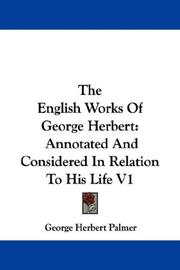 Cover of: The English Works Of George Herbert