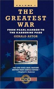 Cover of: The Greatest War, Volume I