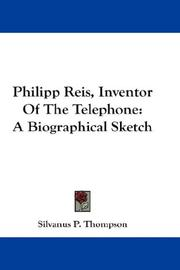 Cover of: Philipp Reis, inventor of the telephone