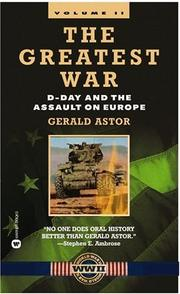 Cover of: The Greatest War, Volume II