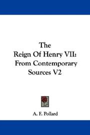 Cover of: The Reign Of Henry VII