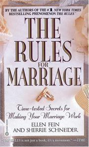 Cover of: The Rules(TM) for Marriage | Ellen Fein