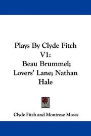 Cover of: Plays By Clyde Fitch V1 | Clyde Fitch