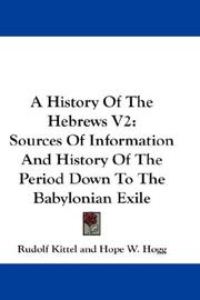 Cover of: A History Of The Hebrews V2