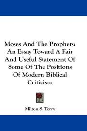 Cover of: Moses And The Prophets