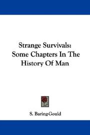 Cover of: Strange Survivals | Sabine Baring-Gould
