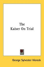 Cover of: The Kaiser On Trial