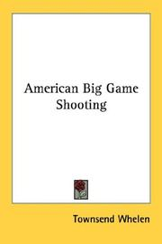Cover of: American Big Game Shooting