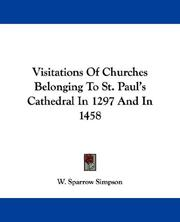 Cover of: Visitations Of Churches Belonging To St. Paul