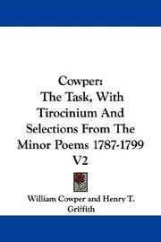 Cover of: Cowper | William Cowper