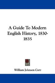 Cover of: A Guide To Modern English History, 1830-1835