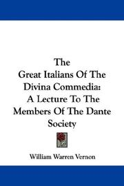 Cover of: The Great Italians Of The Divina Commedia