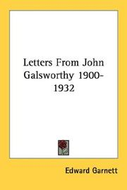 Cover of: Letters From John Galsworthy 1900-1932