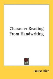Cover of: Character Reading from Handwriting