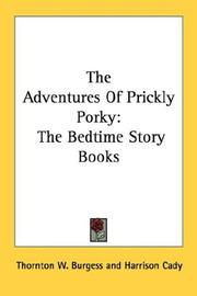Cover of: The adventures of Prickly Porky