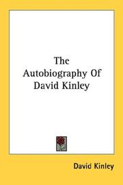 Cover of: The Autobiography Of David Kinley