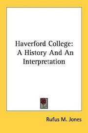 Cover of: Haverford College | Jones, Rufus Matthew