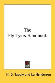 Cover of: The fly tyer's handbook