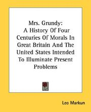 Cover of: Mrs. Grundy