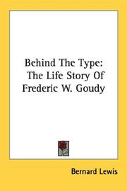Cover of: Behind The Type