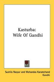 Cover of: Kasturba