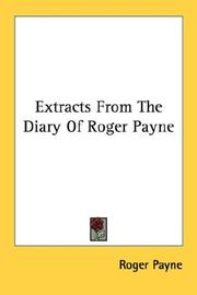 Cover of: Extracts From The Diary Of Roger Payne | Roger Payne