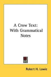 Cover of: A Crow Text