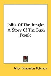 Jolita Of The Jungle by Alice Fessenden Peterson