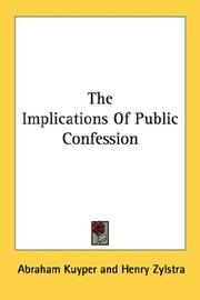 Cover of: The implications of public confession
