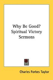 Why Be Good? Spiritual Victory Sermons