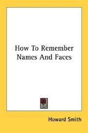 Cover of: How To Remember Names And Faces