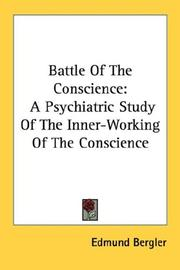 Cover of: Battle Of The Conscience | Edmund Bergler
