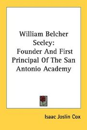 Cover of: William Belcher Seeley