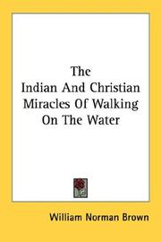Cover of: The Indian And Christian Miracles Of Walking On The Water