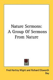 Cover of: Nature Sermons | Fred Hartley Wight