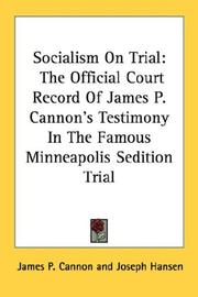 Cover of: Socialism On Trial