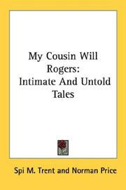 Cover of: My Cousin Will Rogers | Spi M. Trent