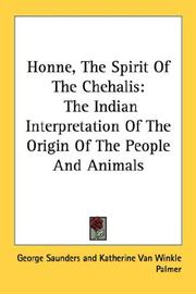 Cover of: Honne, The Spirit Of The Chehalis