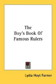 Cover of: The Boy's Book Of Famous Rulers