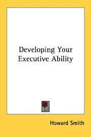 Cover of: Developing Your Executive Ability