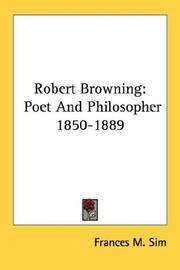 Cover of: Robert Browning | Frances M. Sim