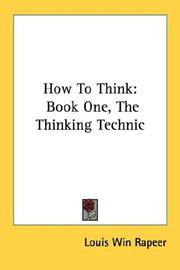 Cover of: How To Think | Louis Win Rapeer