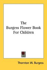 Cover of: Burgess Flower Book for Children