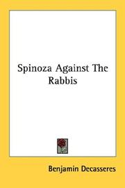 Cover of: Spinoza Against The Rabbis