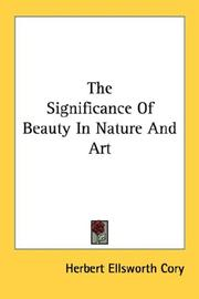 Cover of: The Significance Of Beauty In Nature And Art