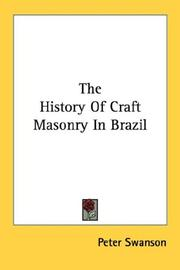 Cover of: The History Of Craft Masonry In Brazil