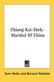 Cover of: Chiang Kai-Shek