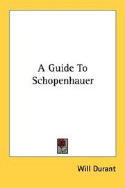 Cover of: A Guide To Schopenhauer